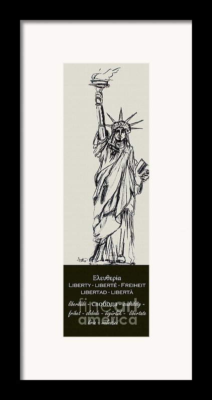 Statue Of Liberty New York Framed Print By Ginette Callaway