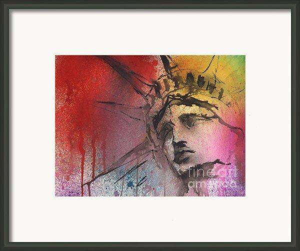 Statue Of Liberty New York Painting Framed Print By Svetlana Novikova