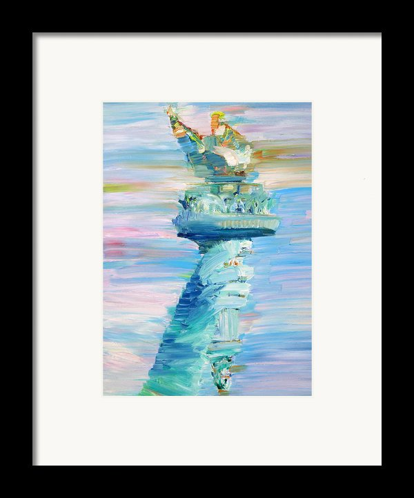 Statue Of Liberty - The Torch Framed Print By Fabrizio Cassetta