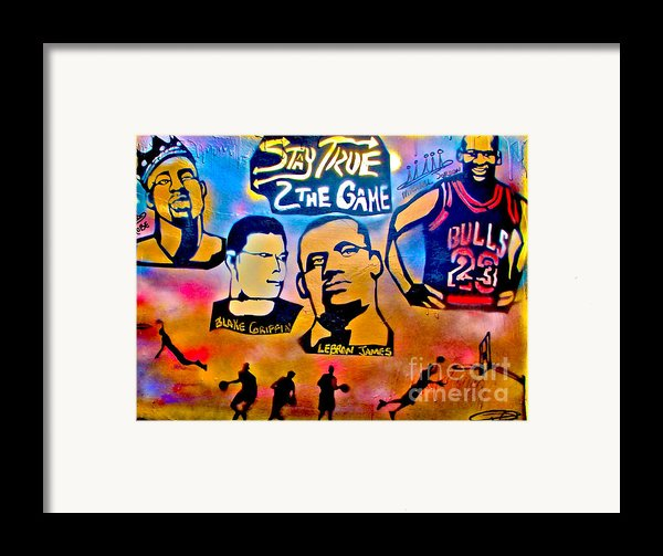 Stay True 2 The Game No 1 Framed Print By Tony B Conscious
