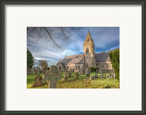 St.david At Pantasaph Framed Print By Adrian Evans