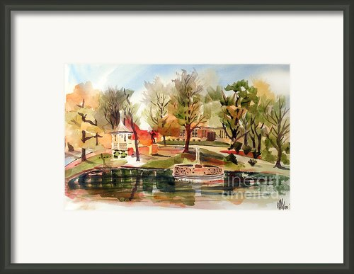 Ste. Marie Du Lac With Gazebo And Pond I Framed Print By Kip Devore