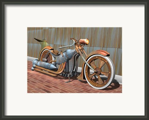 Steam Chopper Framed Print By Stuart Swartz