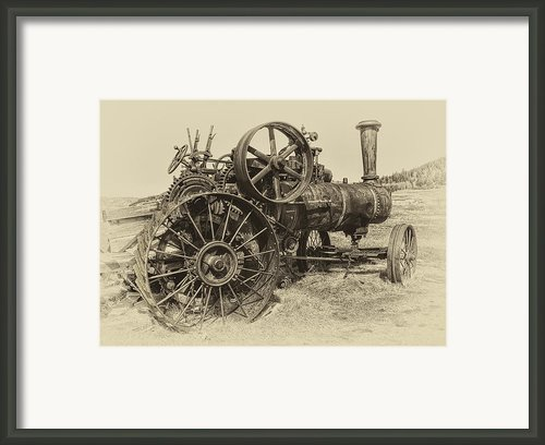 Steam Powered Farm Tractor - Molson Ghost Town Framed Print By Daniel Hagerman