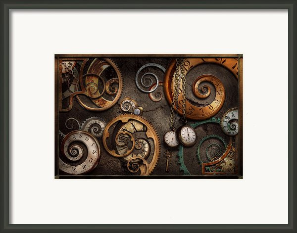 Steampunk - Abstract - Time Is Complicated Framed Print By Mike Savad