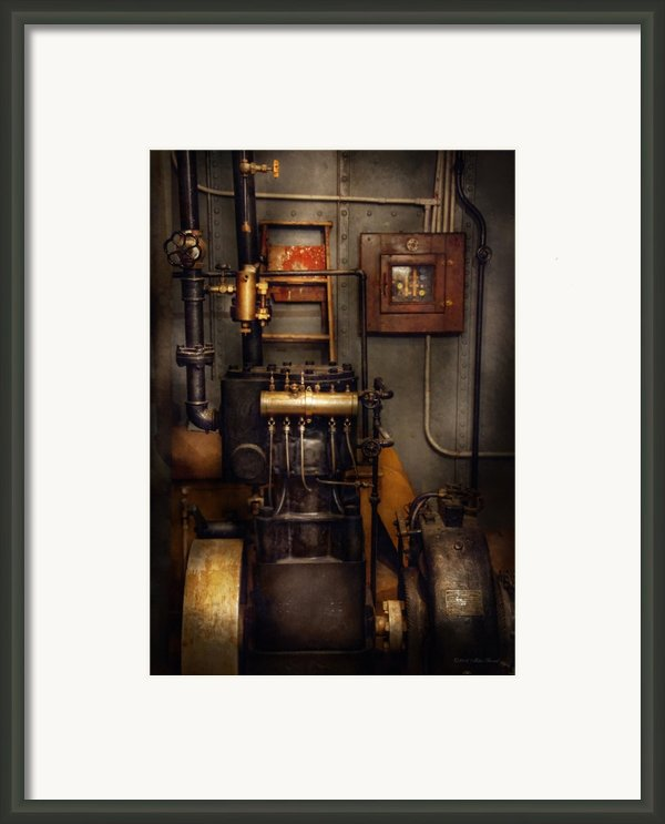 Steampunk - Back In The Engine Room Framed Print By Mike Savad