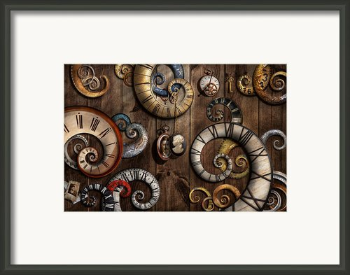 Steampunk - Clock - Time Machine Framed Print By Mike Savad