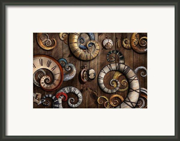 Steampunk - Clock - Time Machine Framed Print By Mike Savad