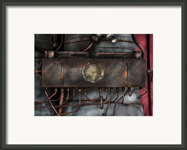 Steampunk - Connections   Framed Print By Mike Savad