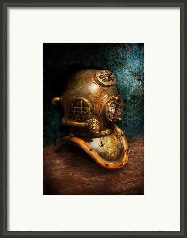 Steampunk - Diving - The Diving Helmet Framed Print By Mike Savad