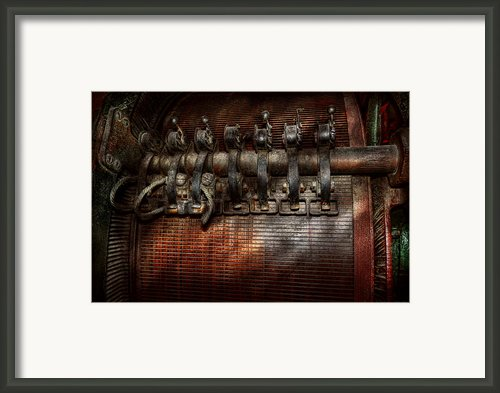 Steampunk - Electrical - Motorized  Framed Print By Mike Savad