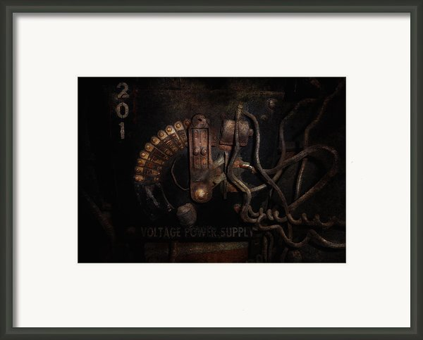 Steampunk - Electrical - Rotary Switch Framed Print By Mike Savad