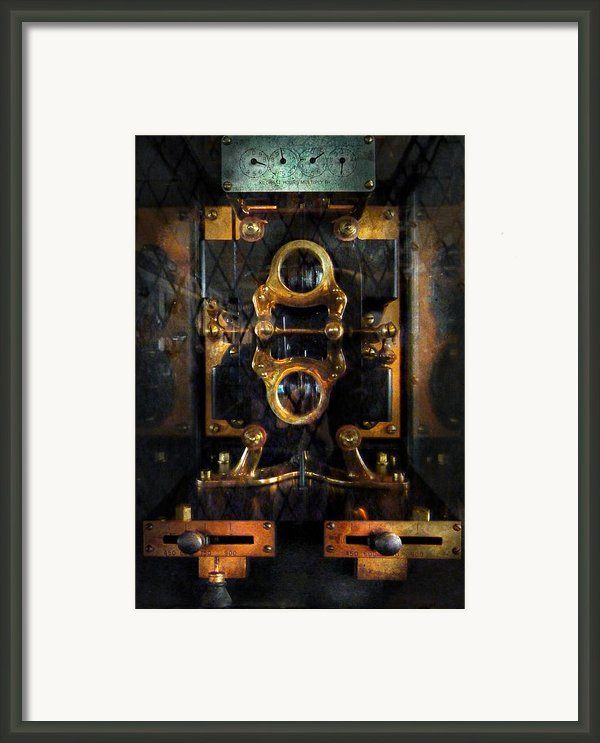 Steampunk - Electrical - The Power Meter Framed Print By Mike Savad