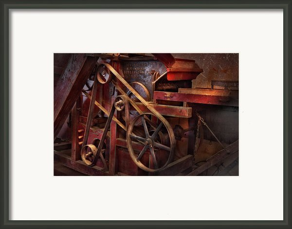 Steampunk - Gear - Belts And Wheels  Framed Print By Mike Savad