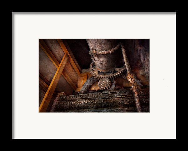 Steampunk - Gear - Out Of Order  Framed Print By Mike Savad