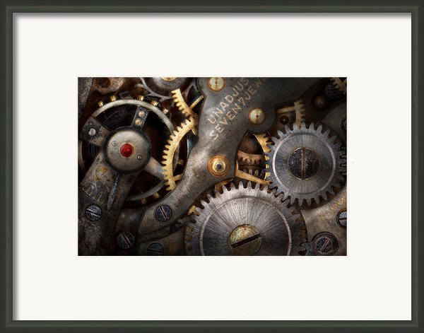 Steampunk - Gears - Horology Framed Print By Mike Savad