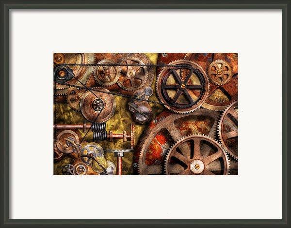 Steampunk - Gears - Inner Workings Framed Print By Mike Savad