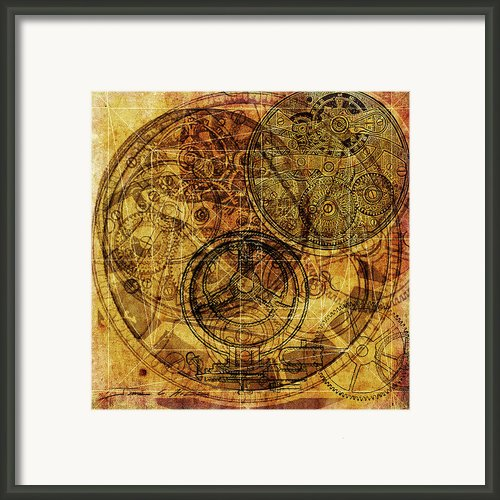 Steampunk Gold Framed Print By James Christopher Hill