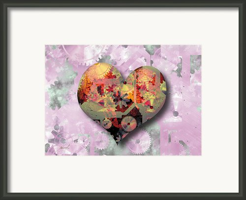 Steampunk Heart Framed Print By Marsha Charlebois
