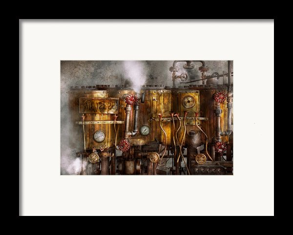 Steampunk - Plumbing - Distilation Apparatus  Framed Print By Mike Savad
