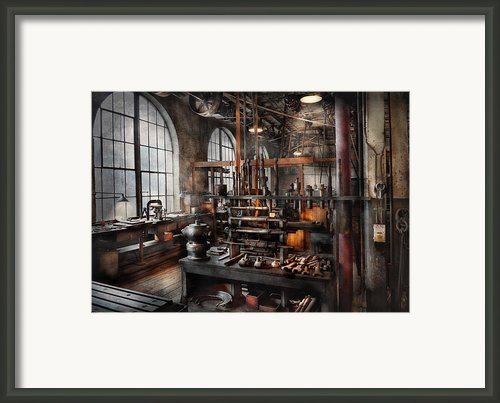 Steampunk - Room - Steampunk Studio Framed Print By Mike Savad