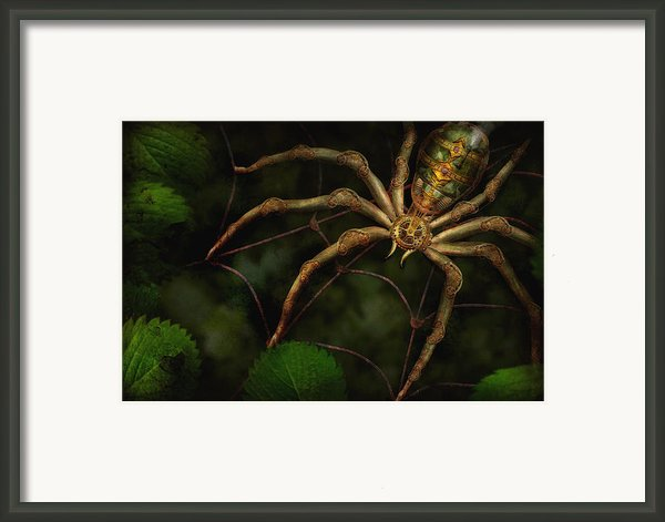 Steampunk - Spider - Arachnia Automata Framed Print By Mike Savad