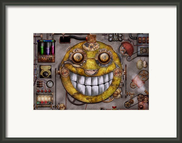 Steampunk - The Joy Of Technology Framed Print By Mike Savad