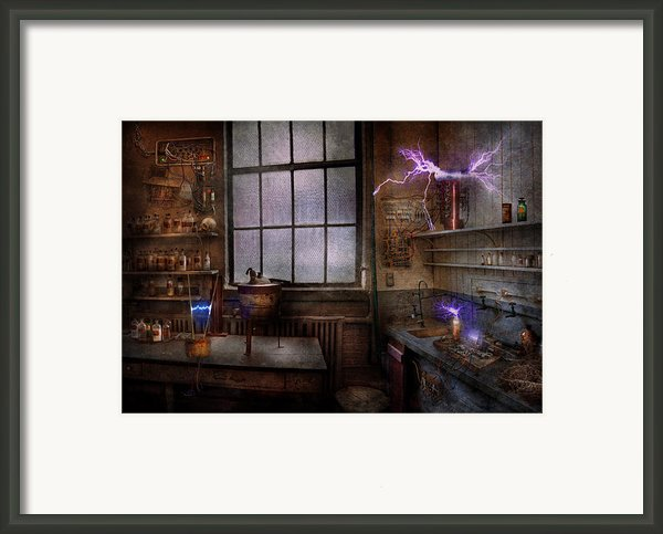 Steampunk - The Mad Scientist Framed Print By Mike Savad