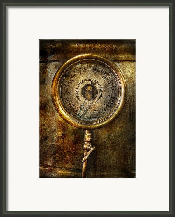 Steampunk - The Pressure Gauge Framed Print By Mike Savad