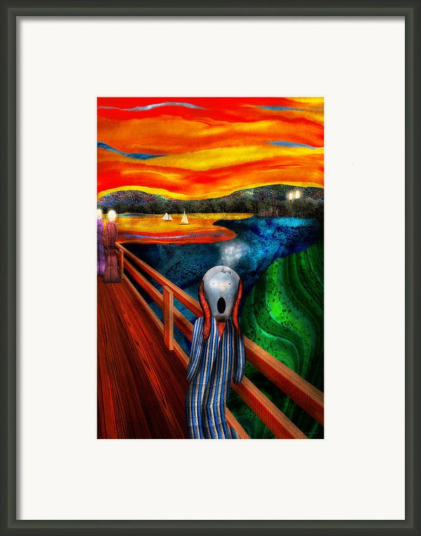 Steampunk - The Scream Framed Print By Mike Savad
