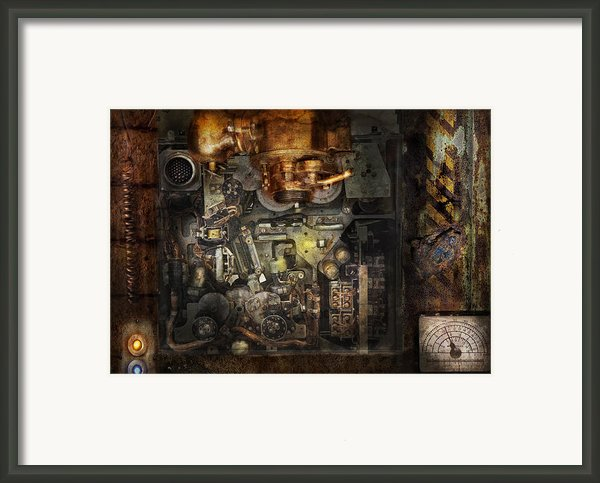 Steampunk - The Turret Computer  Framed Print By Mike Savad