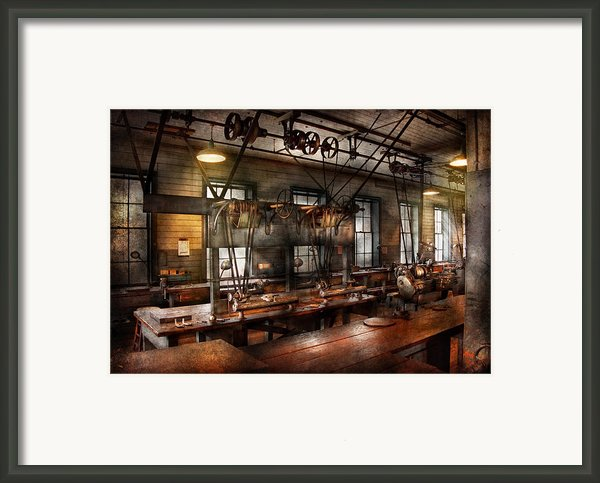 Steampunk - The Workshop Framed Print By Mike Savad