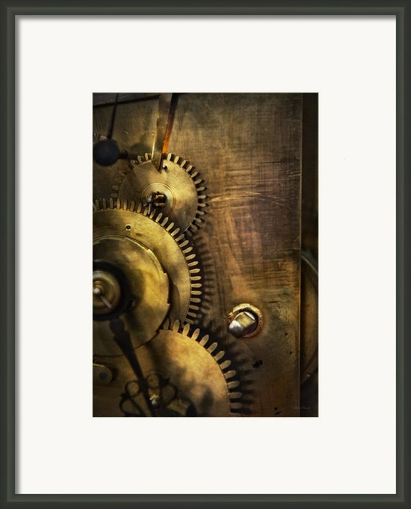 Steampunk - Toothy  Framed Print By Mike Savad