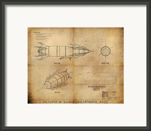 Steampunk Zepplin Framed Print By James Christopher Hill
