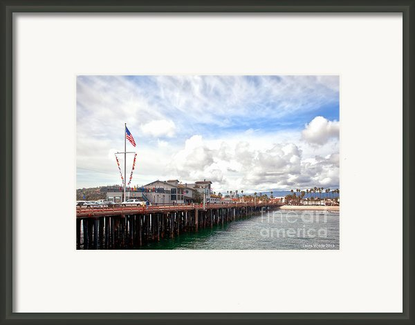 Stearns Wharf Santa Barbara California Framed Print By Artist And Photographer Laura Wrede