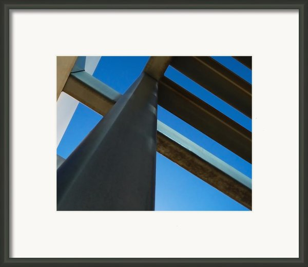 Steel Blue - Industrial Abstract Framed Print By Steven Milner