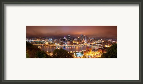 Steel City...pittsburgh Framed Print By Ziaur Rahman