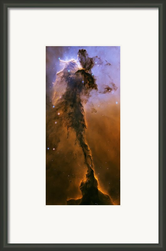 Stellar Spire In The Eagle Nebula Framed Print By Adam Romanowicz