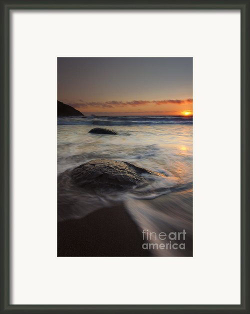 Stepping Stones Framed Print By Mike  Dawson
