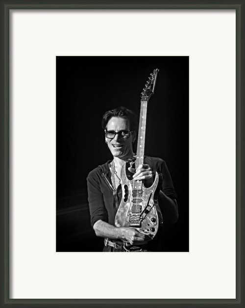 Steve Vai Live At The Pabst Theater 3 Framed Print By The  Vault