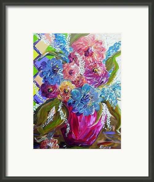 Still Life Caught By A Breeze Framed Print By Eloise Schneider