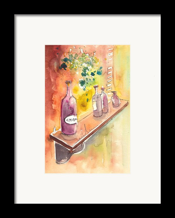 Still Life In Chianti In Italy Framed Print By Miki De Goodaboom