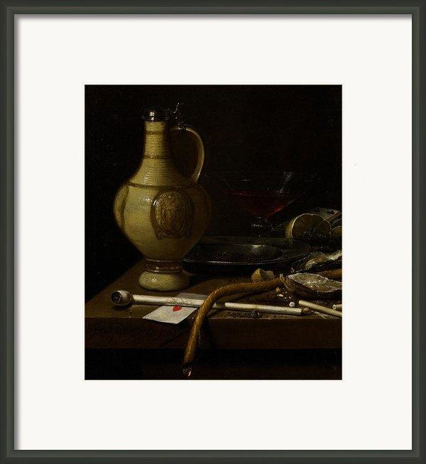 Still Life Framed Print By Jan Jansz Van De Velde