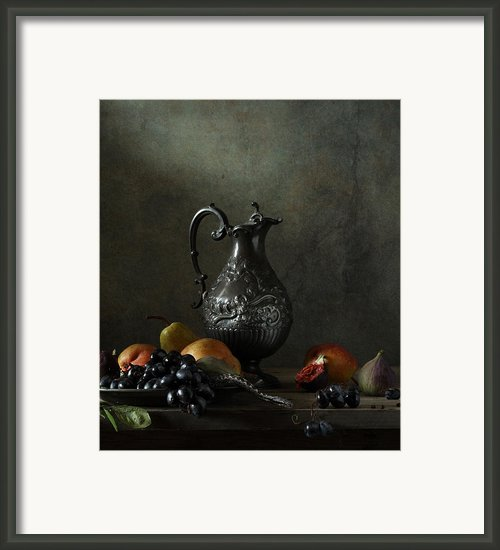 Still Life With A Jug And A Snake Framed Print By Diana Amelina