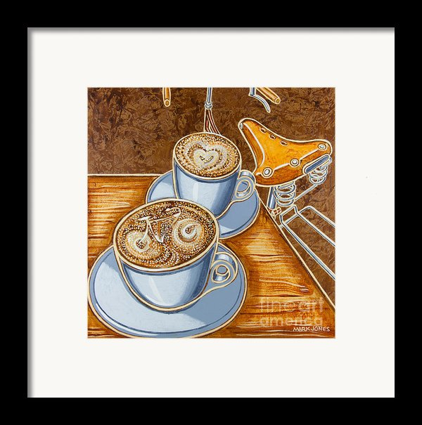 Still Life With Bicycle Framed Print By Mark Howard Jones