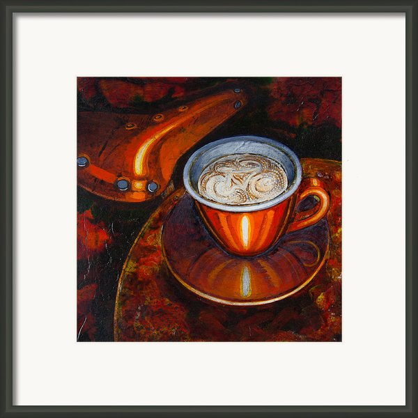Still Life With Bicycle Saddle Framed Print By Mark Howard Jones