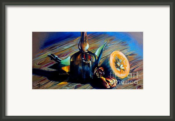 Still Life With Pumpkin And Tulips Framed Print By Alessandra Andrisani