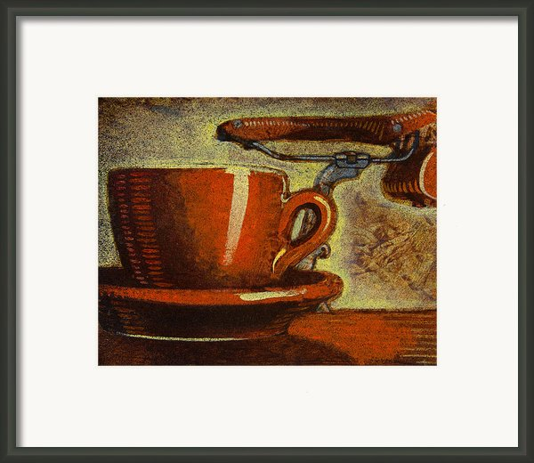 Still Life With Racing Bike Framed Print By Mark Howard Jones
