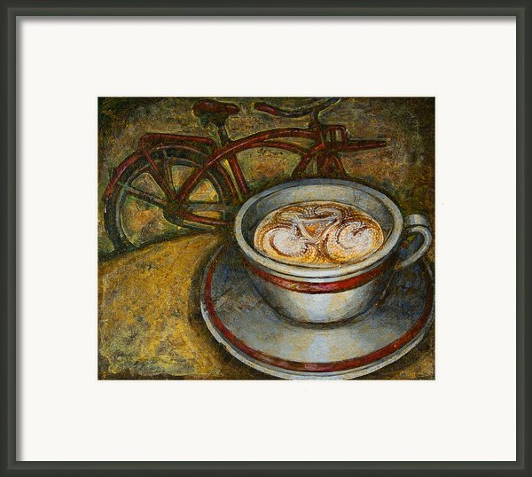 Still Life With Red Cruiser Bike Framed Print By Mark Howard Jones