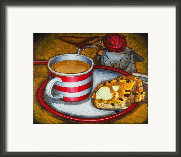 Still Life With Red Touring Bike Framed Print By Mark Howard Jones